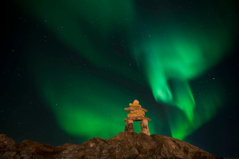 The Northern Lights are a regular part of the night sky in Nunavut.