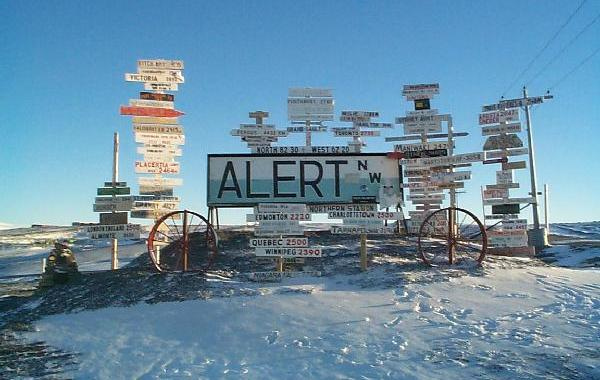 Canadian Forces Base Alert is the world's northernmost military outpost.