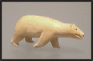 This polar bear statuette was found at an ancient Inuit archaeological dig on Baffin Island, Nunavut.