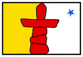 The Nunavut flag celebrates the thousands of years of Inuit heritage in this frozen land.
