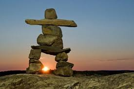 Inukshuks were built by the Inuit as landmarks, navigation tools and to claim boundaries between tribes. Hundreds of them can be found in Nunavut, many of them centuries old!