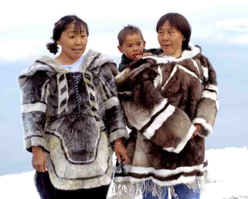 Traditional Inuit dress was warm and practical.