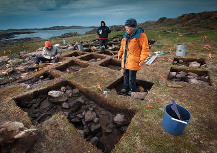 Archaeologists dig up an ancient Norse settlement on Baffin Island.