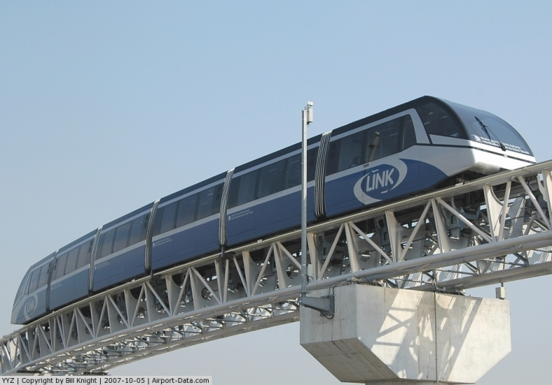 The LINK Train keeps passengers moving between terminals, hotels and parking garages.