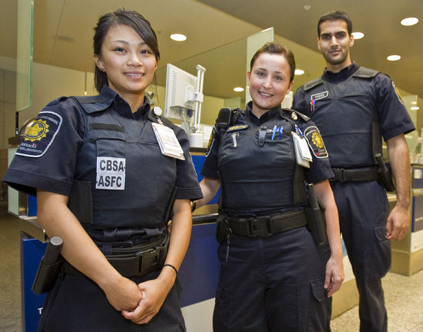 CBSA (Canada Border Security Agency) keeps staff at 2 terminals for passport control, immigration control and customs inspections.