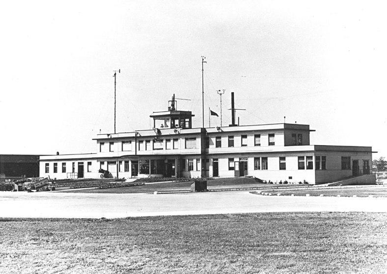 Malton Airport's single terminal in 1938.
